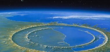 """<p class="""" text-justify"""">Cráter de Chicxulub / Agencia Espacial Mexicana</p>"""