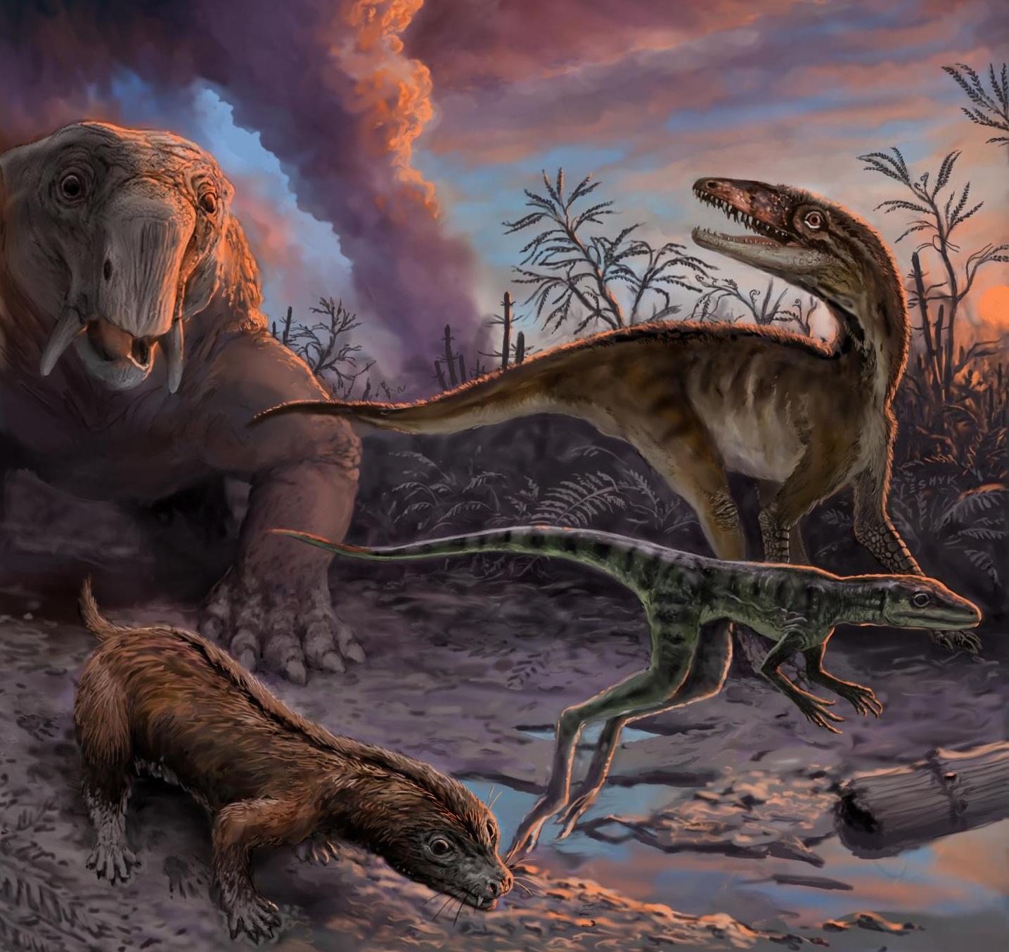 Los primeros dinosaurios aparecieron poco después de sus ...