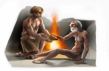 """<p>En Francia se encontraron restos de un hombre neandertal apodado """"El viejo"""" con varias fracturas, problemas en la mandíbula y una dolorosa enfermedad ósea. Tuvieron que cuidarlo para que sobreviviera en la comunidad, lo que prueba el espíritu compasivo de sus congéneres. / José Antonio Peñas, SINC.</p>"""
