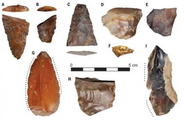 <p>Estos son algunos de los fragmentos de piedra tallados para la caza y la pesca que se han encontrado en el yacimiento de Cooper