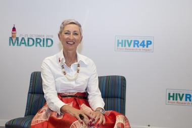 """<p>Linda-Gail Bekker durante el congresode Investigación para la Prevención del VIH (<a href=""""http://www.hivr4p.org/"""" target=""""_blank"""">HIVR4P 2018</a>), celebrado en Madrid. /HIVR4P</p>"""