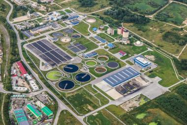 """<p/>Vista aérea de una depuradora de agua / Pixabay"""" style="""""""" /><span style="""