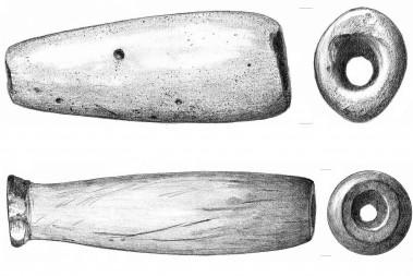 """<p/>Fragmentos de pipa procedentes del yacimiento de Offield Bar, cerca del río Snake y cerca del río Columbia,en el estado de Washington. /Tammara Norton"""" style="""""""" /><span style="""