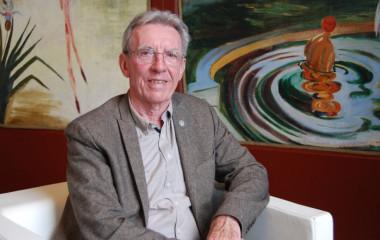 """El químico francés Jean-Pierre Sauvage ha sido uno de los ponentes en el festival científico <a href=""""https://p4k.dipc.org/es/inicio"""" target=""""_blank"""" rel="""
