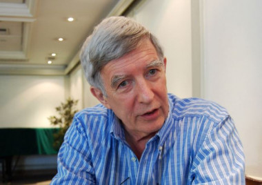 <p>Richard Wilkinson, profesor emérito de Epidemiología Social de la Universidad de Nottingham. / Patricia Luna</p>