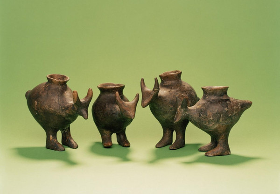 Vasijas de alimentación de la Edad del Bronce tardío de Vösendorf, Austria / Enver-Hirsch © Museo Wien