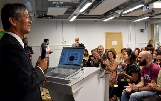 Tetsuro Matsuzawa en la Fundación Biodiversidad
