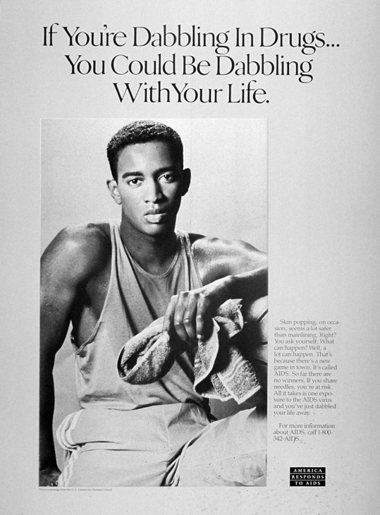 AIDS_Poster_If_You're_Dabbling_in_Drugs_1989