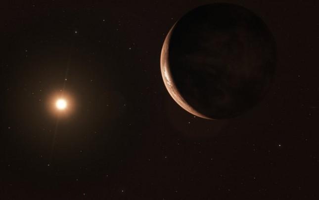 Exoplaneta que orbita alrededor de la estrella Barnard