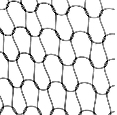 Red de punto de nailon de 0,15 mm de diámetro tejida para el experimento- CNRS