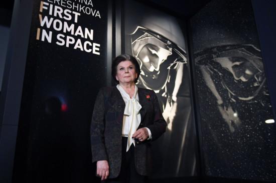 Valentina Tereshkovaen el Museo de Ciencias de Londres en la inauguración de la exhibición dedicada a su vida y carrera / Copyright EFE