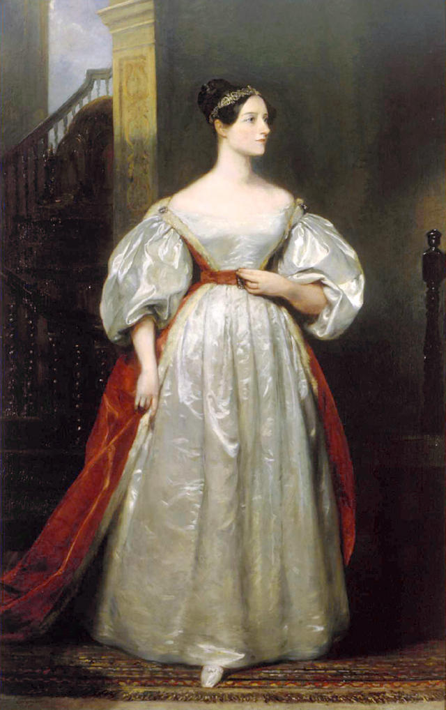 Retrato de Ada Lovelace en 1836, por Margaret Carpenter.