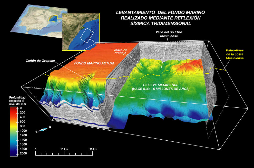 Los resultados aportan luz sobre la manera en la que se produjo la bajada del nivel del mar durante el Mesiniense.