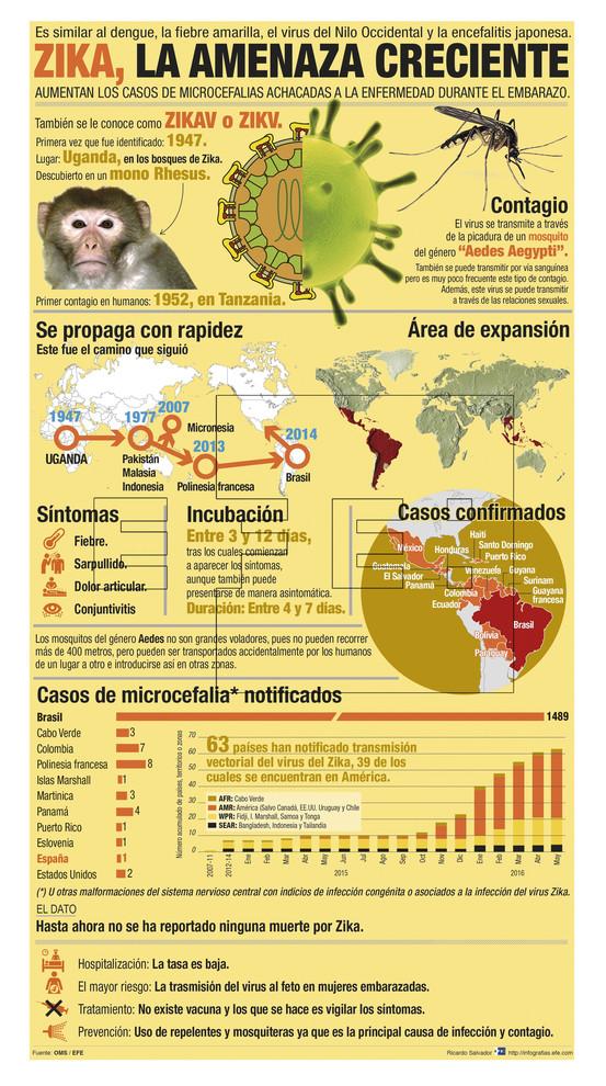 Expansión del virus del zika. / Efe