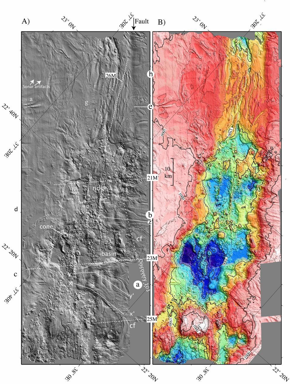 Infografía sobre el estudio de los glaciares de sal en el mar Rojo