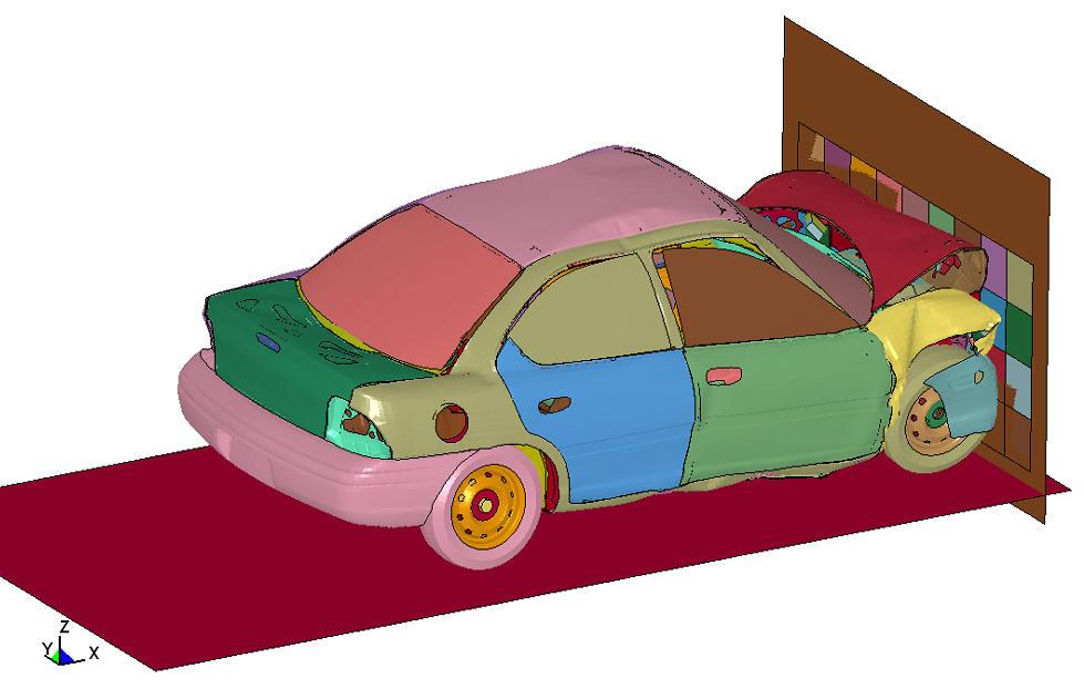 Modelo complejo de reconstrucción de accidentes. Cedida por Daniel Álvarez Mántaras
