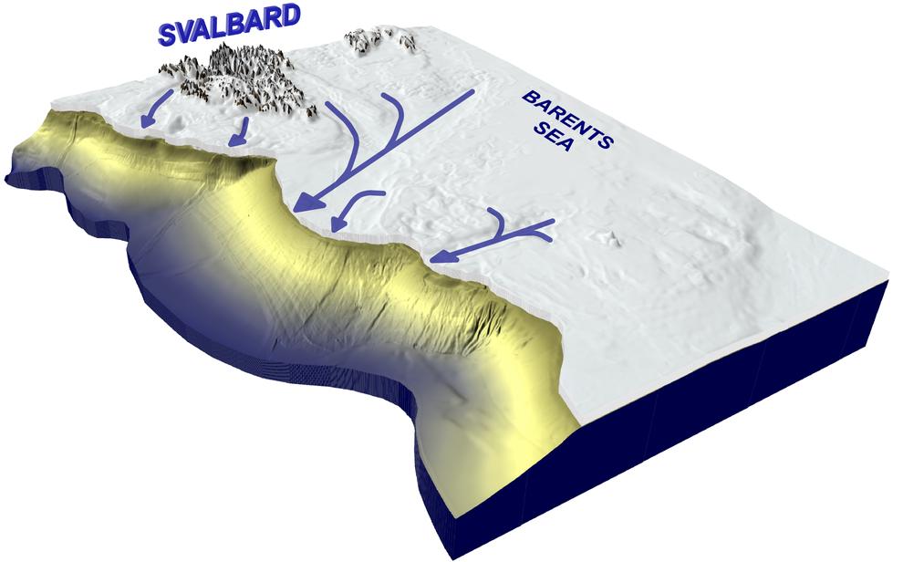 Las corrientes de hielo han modelado los fondos marinos polares.
