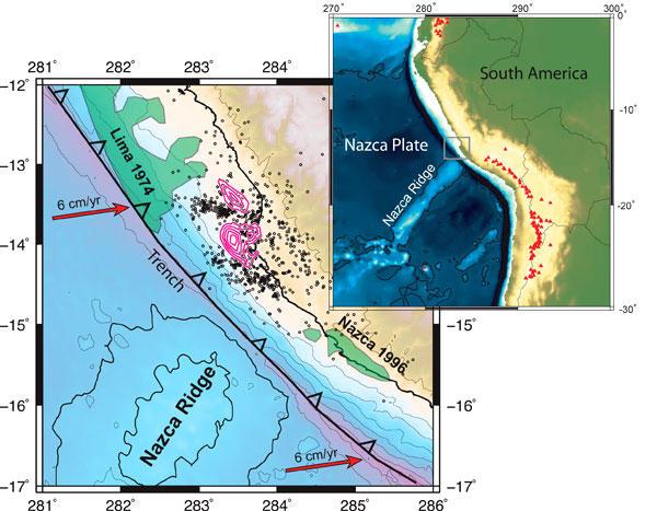 Terremoto en la zona de Pisco.