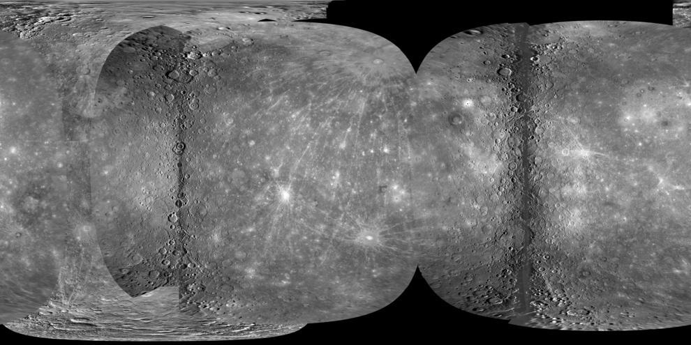 Mapa de Mercurio.