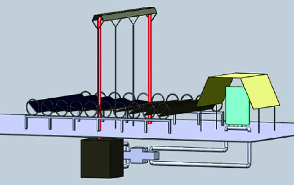 Sistema para producir electricidad en la Luna con espejos reflectores y motor térmico. / Blai Climent et al.