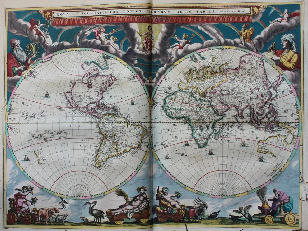 Nova et accuratíssima totíus Terrarum Orbis tabula, de Ioanne Blaeu (Amsterdam, 1659)