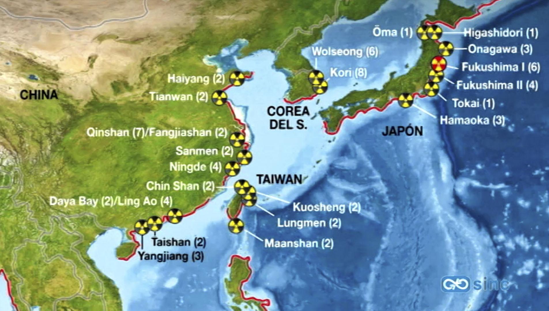 Unas 23 centrales nucleares están en zonas con riesgo de tsunamis ...