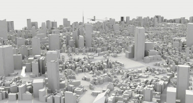 <p>3D representation of the Minato Ward (Tokyo) &nbsp;used for the study. / Credit: Ivan Pazos et al.</p>