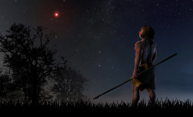<p>At a time when modern humans were beginning to leave Africa and the Neanderthals were living on our planet, Scholz´s star approached less than a light-year. / José A. Peñas/SINC</p>