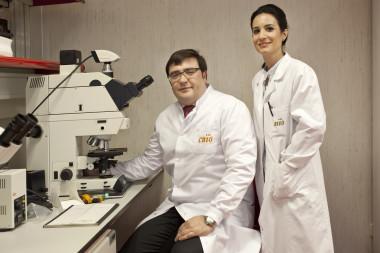 <p>David Olmos y Elena Castro, de la Unidad de Investigación Clínica de Cáncer de Próstata. / CNIO</p>