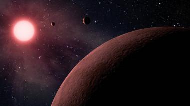 <p>Recreación artística similar a lo que podría ser el sistema k2239. / NASA</p>