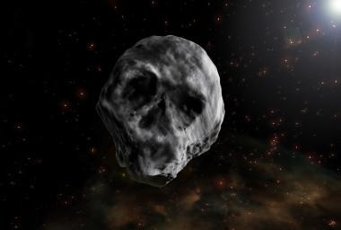 <p>El nombre oficial del asteroide de Halloween es2015 TB<sub>145</sub>, un objeto con aspecto de calavera humana bajo determinadas condiciones de iluminación. /José Antonio Peñas/SINC</p>
