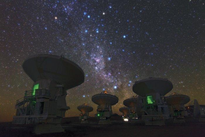 El telescopio ALMA detecta reservas de gas turbulento en galaxias distantes