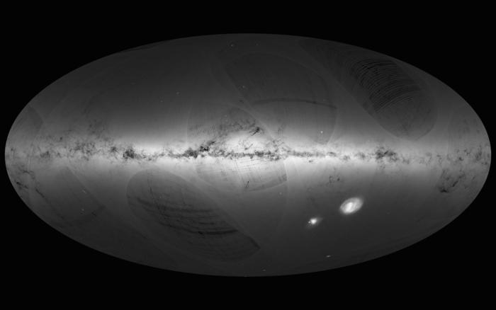 Gaia dibuja un mapa de más de mil millones de estrellas