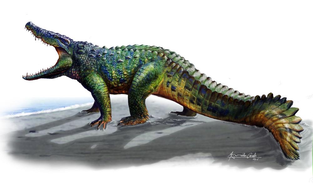 Hulki, un cocodrilo musculoso entre los dinosaurios de los Pirineos ...