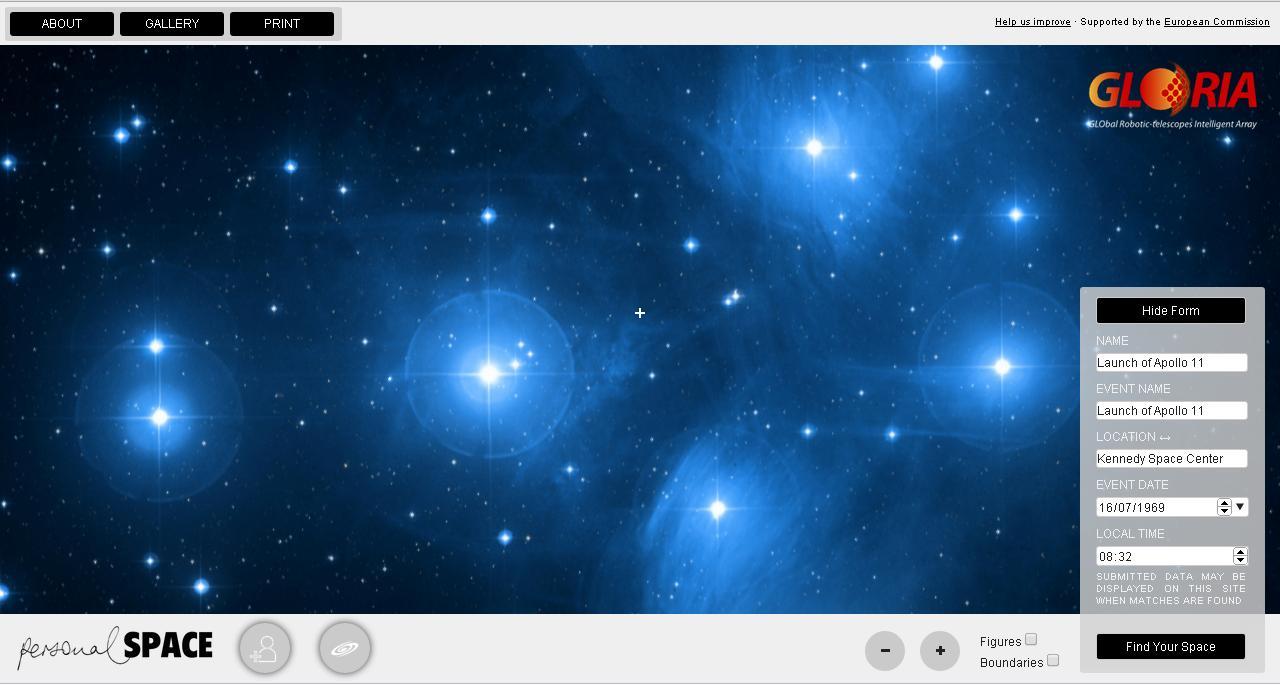 La aplicación Personal Space permite explorar el universo desde un ordenador
