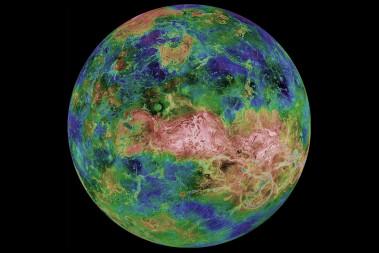 <p>Imagen de Venus obtenida por la sonda Magallanes de la NASA donde se observa la zona de estudio / NASA</p>