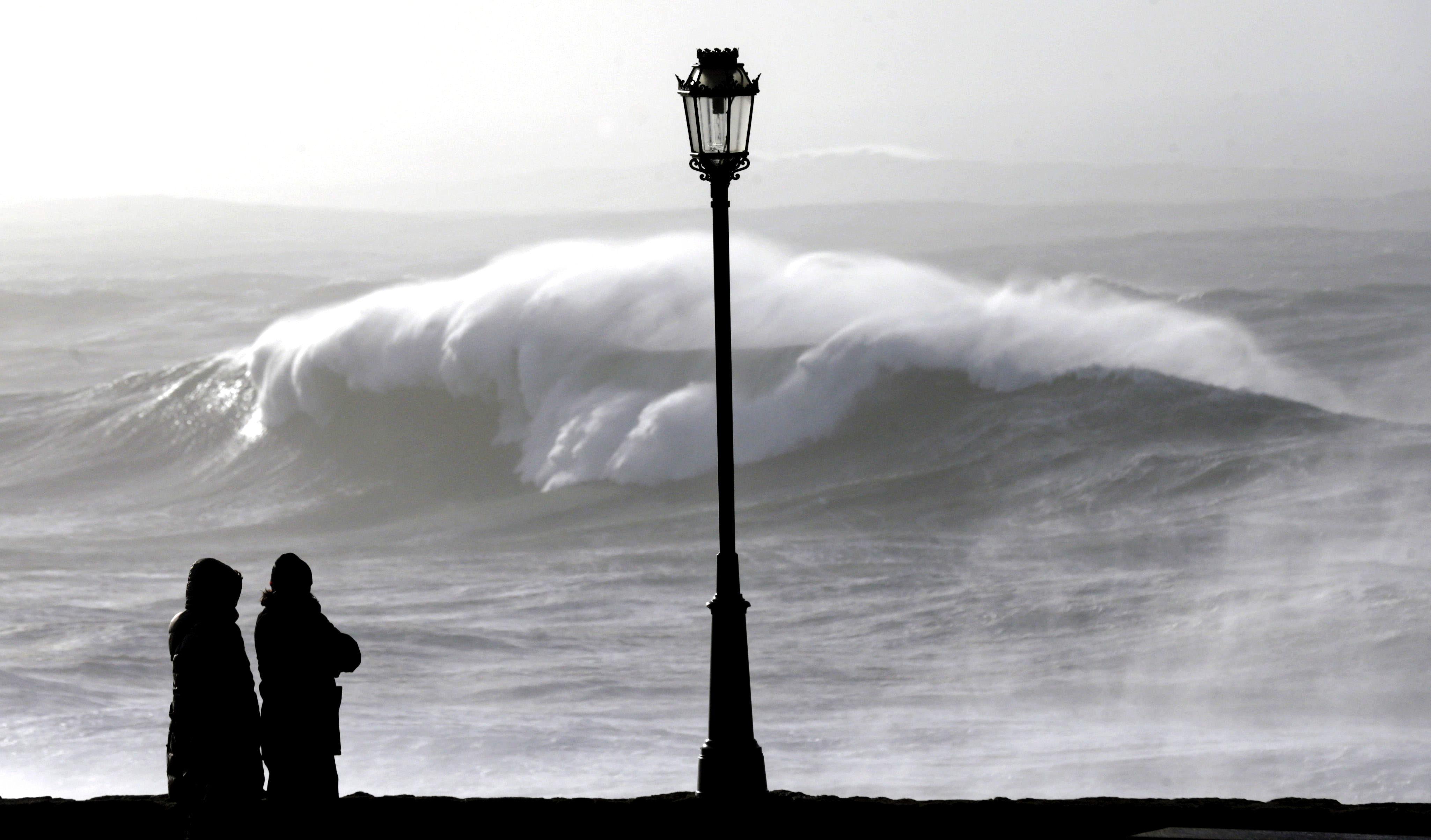 La ola más grande jamás registrada en España