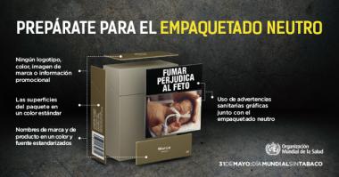 """<p/>Campaña de llamamiento de la OMS para quetodos los países se preparen para el empaquetado neutro de los productos de tabaco. / OMS"""" /><span style="""