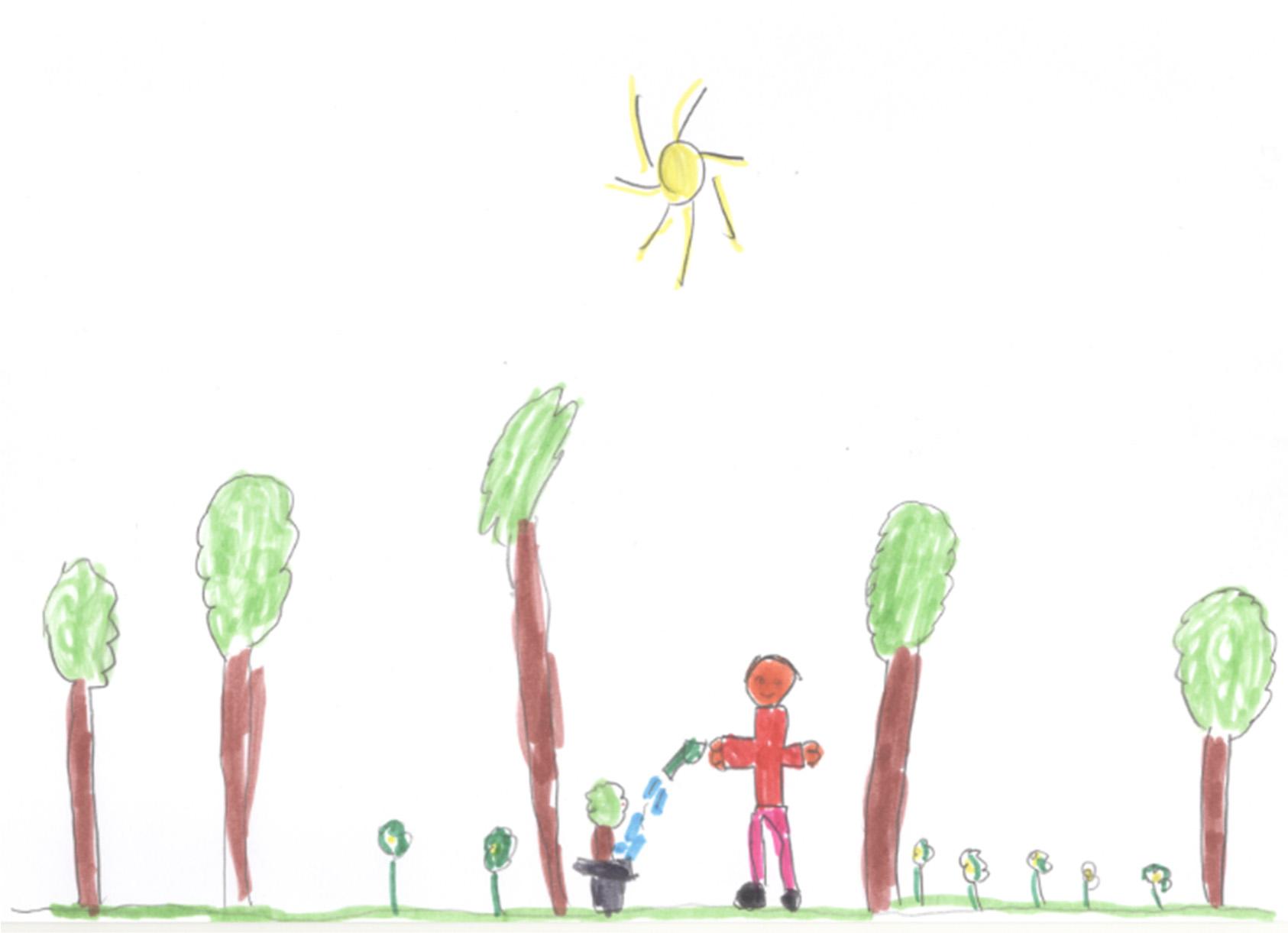 La Simetría Un Recurso Infantil Espontáneo Para Dibujar El Mundo