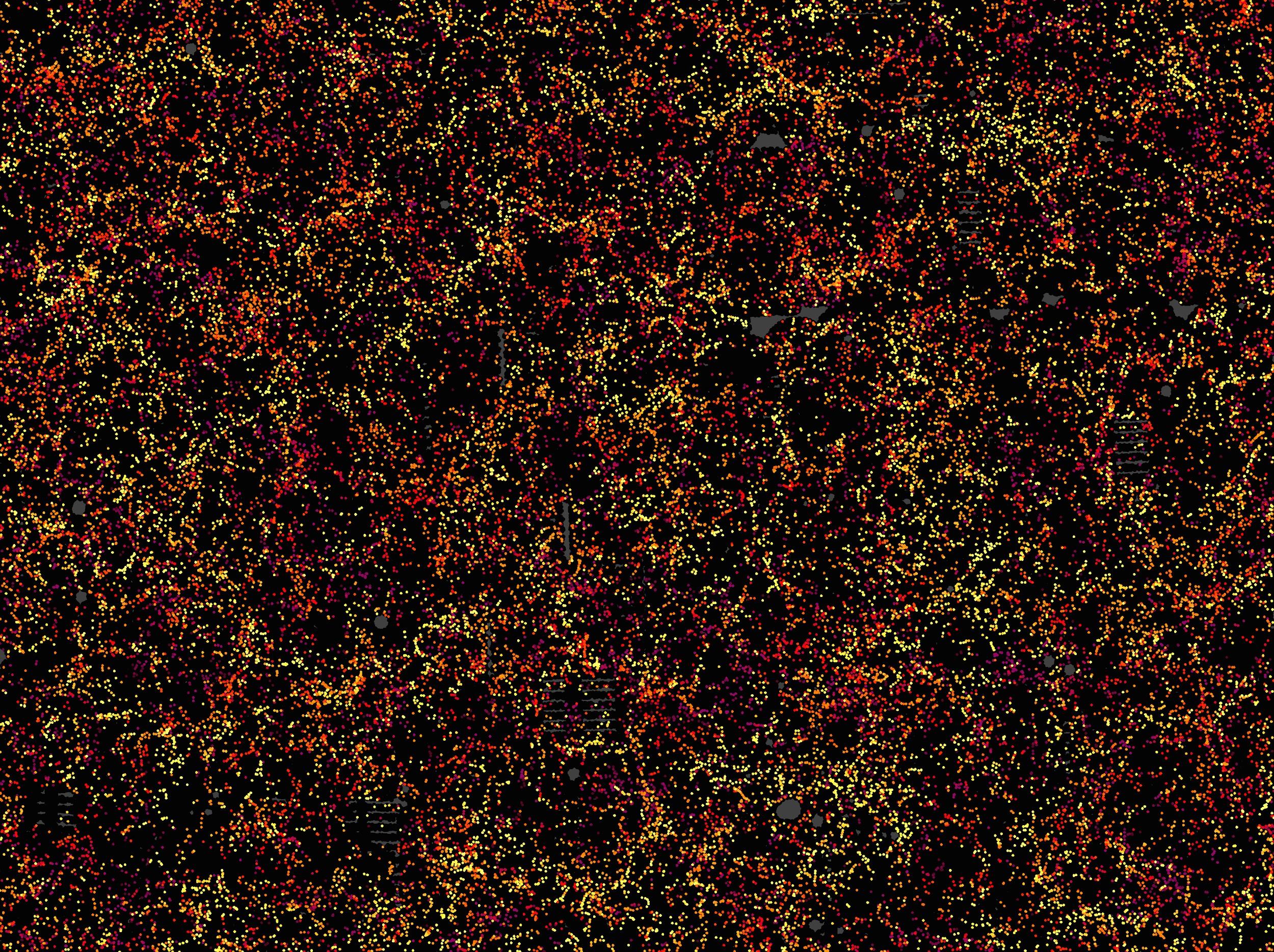 Mapa de más de un millón de galaxias para estudiar la energía oscura