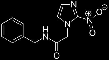 """<p/>Fórmula del benznidazol, el medicamento más utilizado para tratar la enfermedad de Chagas. /Fvasconcellos"""" /><span style="""