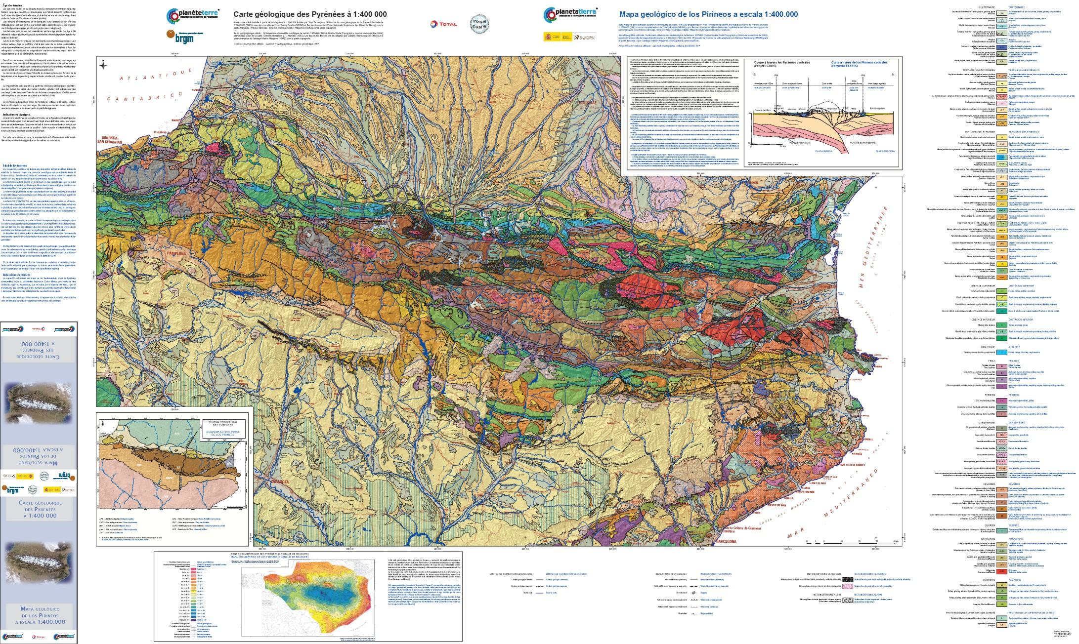 Mapa De Los Pirineos.Se Presenta El Primer Mapa Geologico Completo De Los