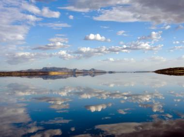 <p>Lago Magadi en la estacón lluviosa / Richard Owen</p>