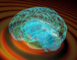 <p>Recreación artística de las ondas cerebrales /Institut Català de Nanociència i Nanotecnologia</p>
