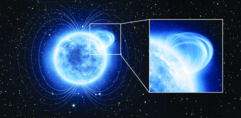 Una estrella muerta posee uno de los campos magnéticos más poderosos del universo