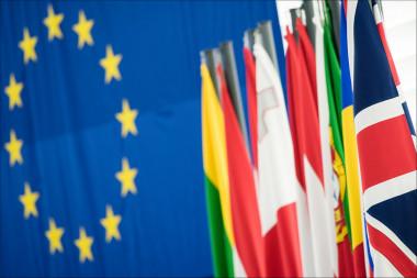 """<p>Esta imagen pasará a la historia: la bandera británica junto a las de los países de la Unión Europea / <a href=""""https://www.flickr.com/photos/european_parliament/24163058974/"""" target=""""_blank"""">Parlamento Europeo</a>.</p>"""