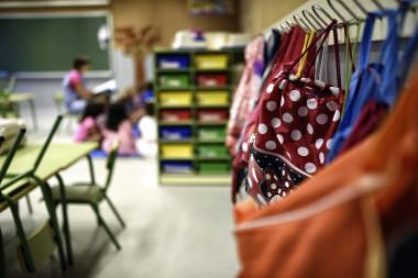 <p>Aula de Educación Primaria en un colegio de Toledo en 2014. / EFE</p>