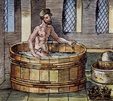 "<p>El filósofo griego Archimedes en su baño, talla del siglo XVI. / <a href=""http://commons.wikimedia.org/wiki/File:Archimede_bain.jpg"" target=""_blank"">Wikimedia</a></p>"